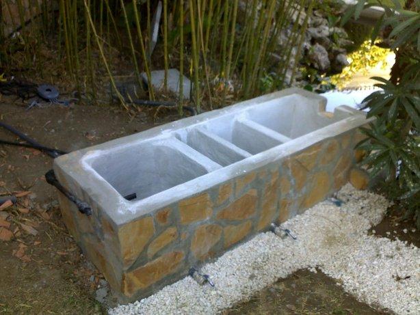 Filtro casero hemos hecho para un estanque de kois fotos for Filtro natural para estanque