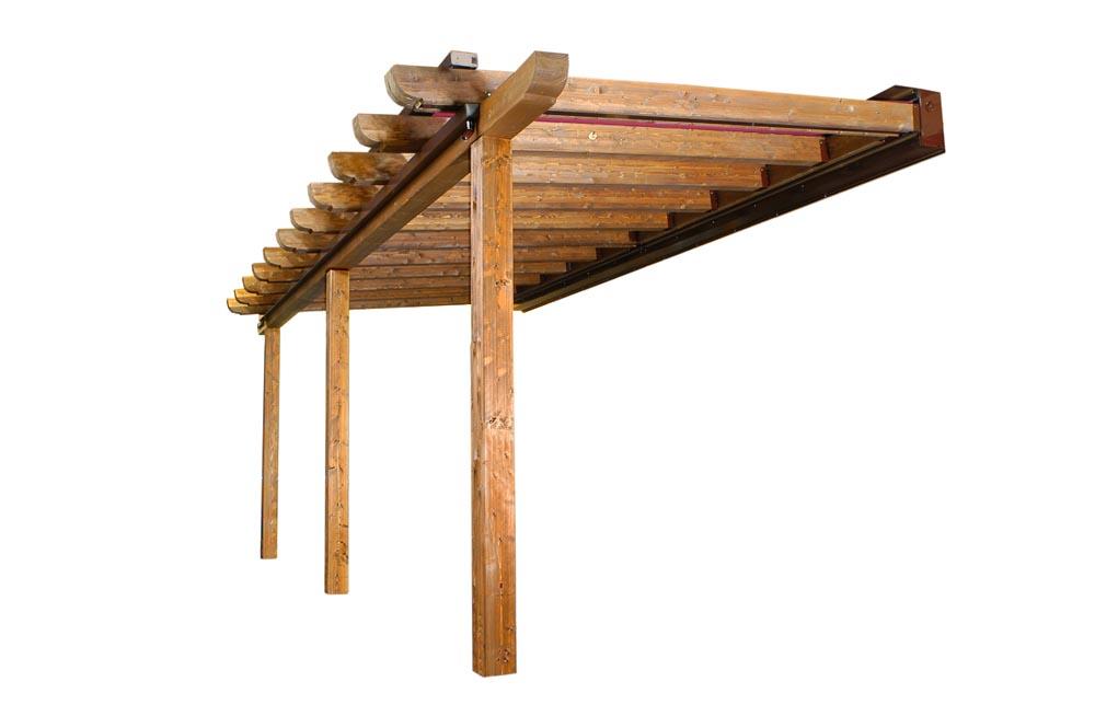 P rgola de madera numero de postes si ser n suficientes y - Postes para pergolas ...
