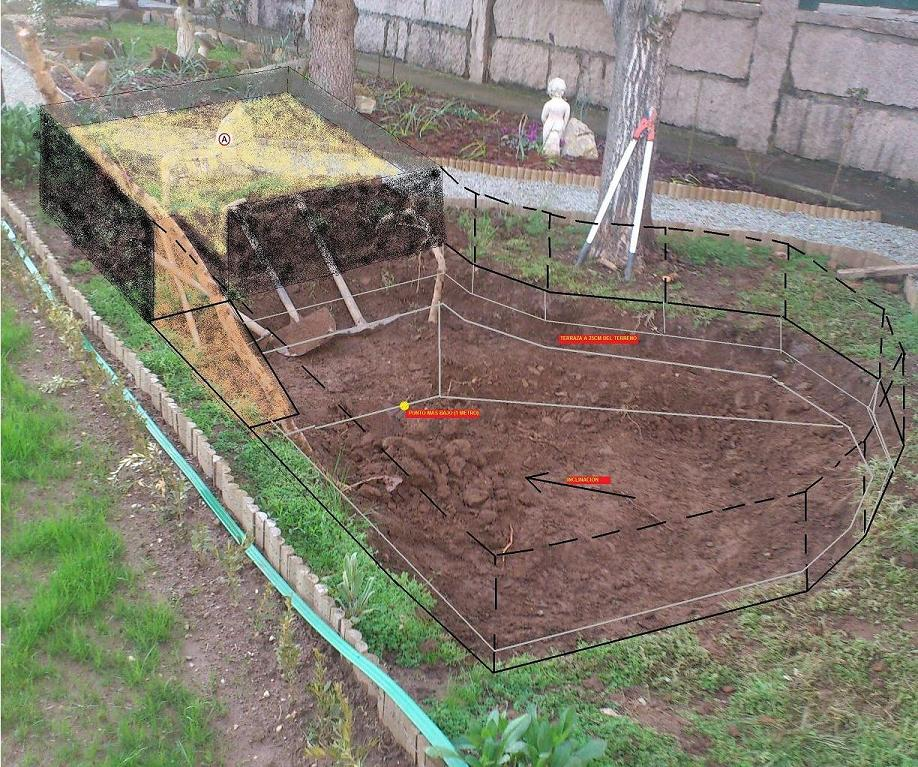 Construyendo mi estanque para tortugas con parte de for Todo para estanques