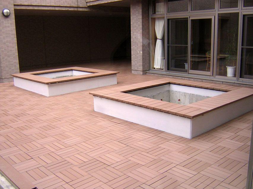 Tarima de madera para exteriores losetas de madera lamas - Loseta para exteriores ...