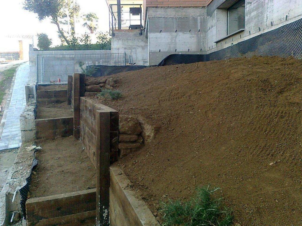 Muro de traviesas de v as para salvar talud p gina 7 - Como cerrar un terreno con madera ...