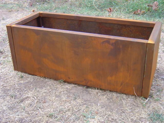Impermeabilizar jardinera de acero oxidado o corten o no for Acero corten perforado oxidado