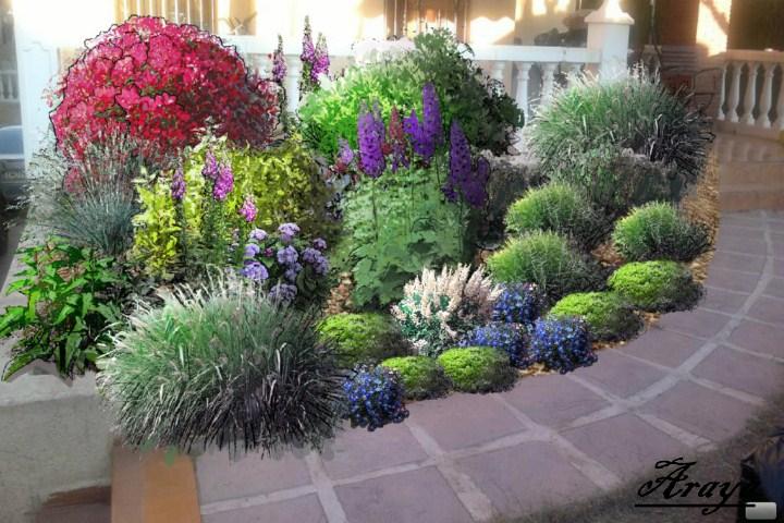 Jardin delantero orientado al norte clima continental ayuda - Como hacer un jardin bonito ...