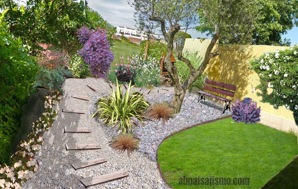 Un dise o de jard n y las tarifas de un paisajista - Diseno de un jardin ...