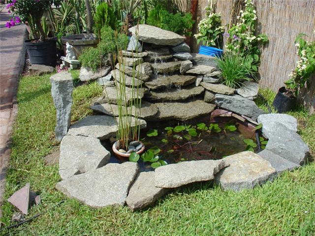 Cascada de jard n que quiero hacer asesoramiento e ideas for Cascadas para jardin piedra